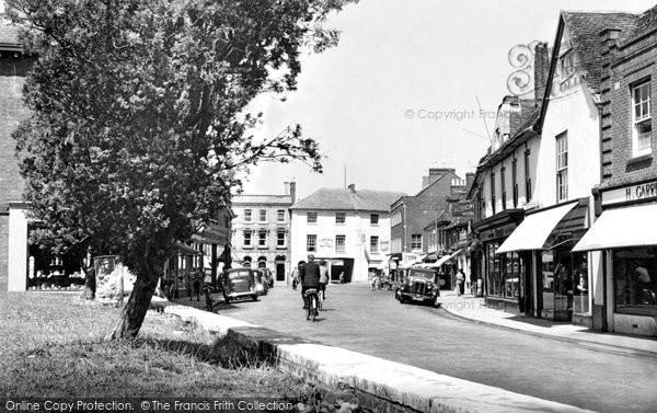 Photo of Wimborne, High Street c.1955