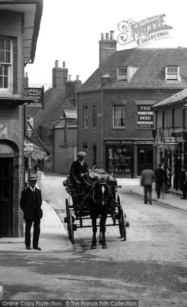 Photo of Wimborne, Horse And Cart, East Brook 1908