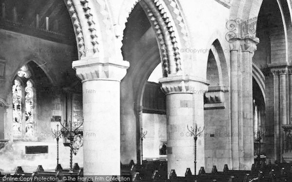 Photo of Wimborne, Minster, Across Nave 1886