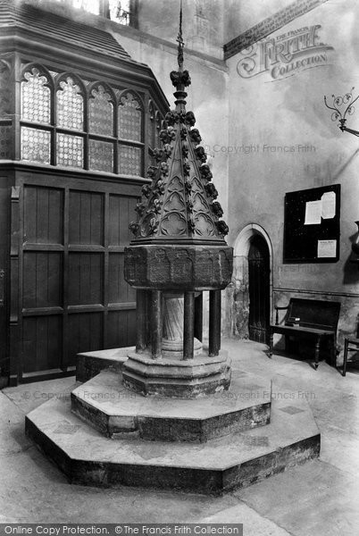 Photo of Wimborne, Minster, Font 1908