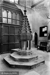 Wimborne, Minster, Font 1908, Wimborne Minster