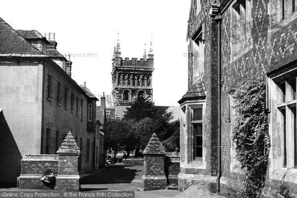 Photo of Wimborne, Minster From Grammar School c.1950