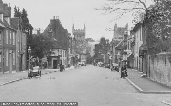 Photo of Wimborne, Minster From West Borough 1936