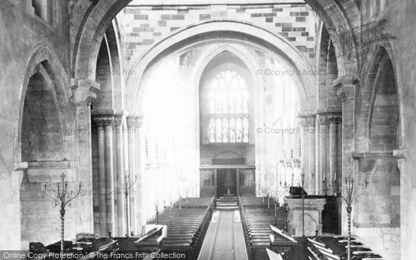 Photo of Wimborne, Minster, Nave West 1886
