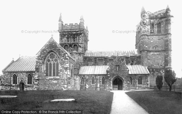 Photo of Wimborne, Minster North Side 1892