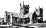 Wimborne, Minster, north side 1899