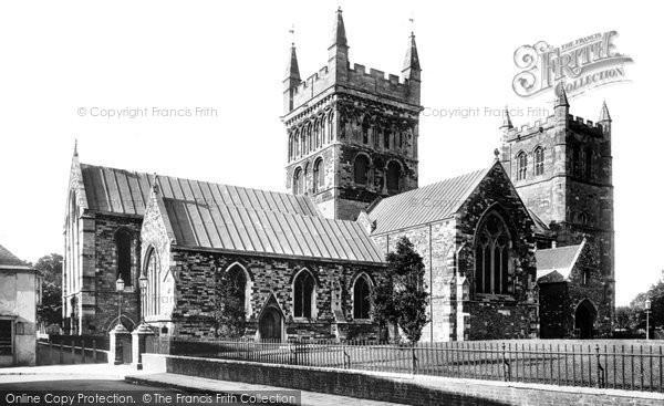 Photo of Wimborne, Minster, north side 1899