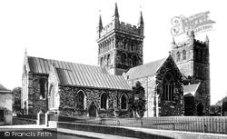 Wimborne, Minster, North Side 1899, Wimborne Minster