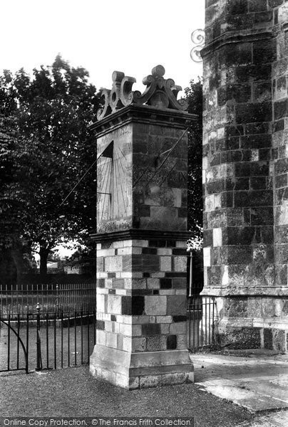 Photo of Wimborne, Minster Sundial 1908