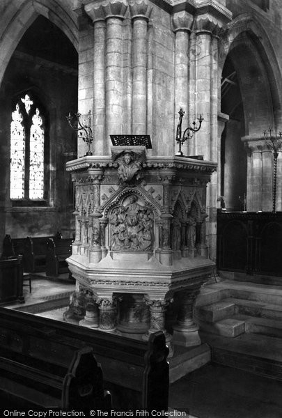 Photo of Wimborne, Pulpit 1908