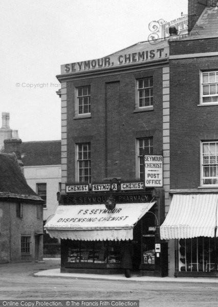 Photo of Wimborne, Square, Seymour The Chemist 1904