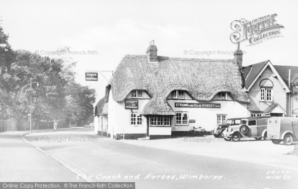Photo of Wimborne, The Coach And Horses c.1955