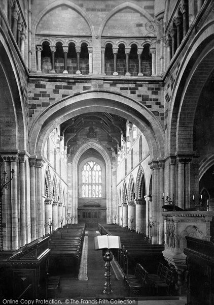Photo of Wimborne, The Minster, From The Chancel 1886
