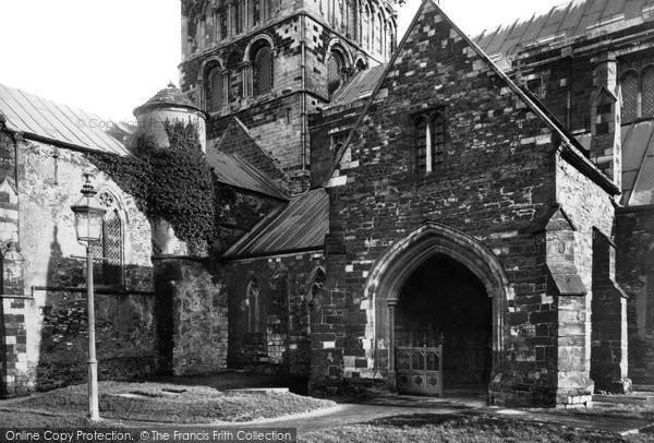 Wimborne, the Minster, north porch 1886