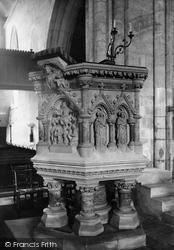 Wimborne, The Minster, Pulpit 1886, Wimborne Minster