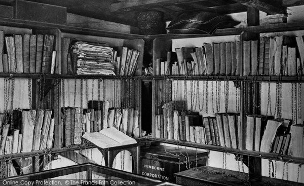 Photo of Wimborne, The Minster, The Chained Library 1886