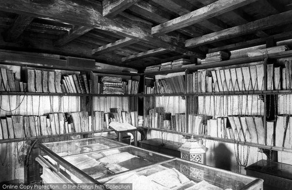 Photo of Wimborne, The Minster, The Chained Library 1899