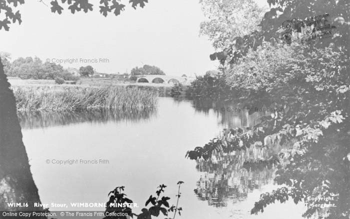 Photo of Wimborne, The River Stour c.1955