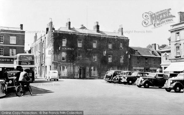 Photo of Wimborne, The Square c.1955