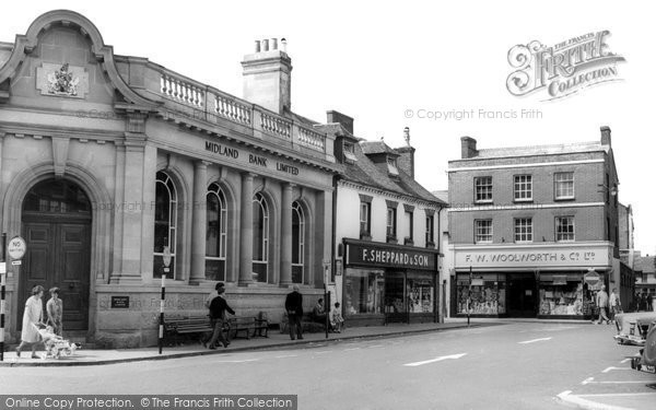 Wimborne, the Square c1965