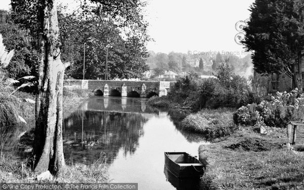 Photo of Wimborne, Walford Bridge c.1955