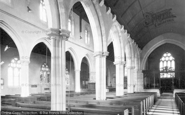Photo of Wincanton, Parish Church Interior c.1955