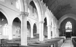 Wincanton, Parish Church Interior c.1955
