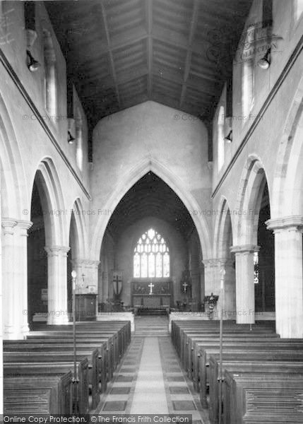 Photo of Wincanton, Parish Church Interior c.1960