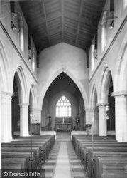Wincanton, Parish Church Interior c.1960