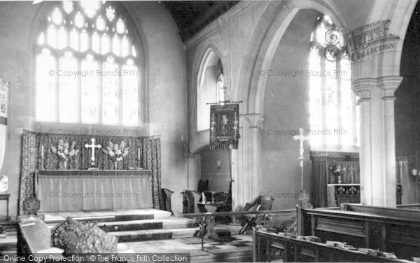 Photo of Wincanton, St Peter And St Paul Parish Church Altar c.1960