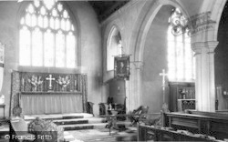 St Peter And St Paul Parish Church Altar c.1960, Wincanton