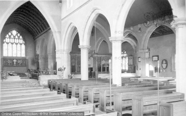 Photo of Wincanton, St Peter And St Paul Parish Church Interior c.1960