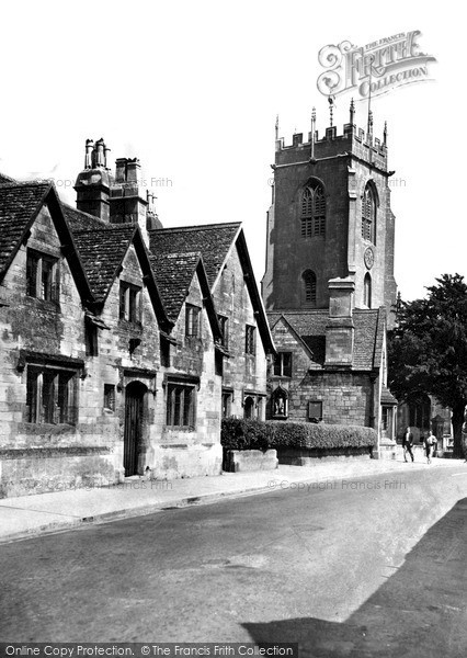 Photo of Winchcombe, Gloucester Street And St Peter's Church c.1955