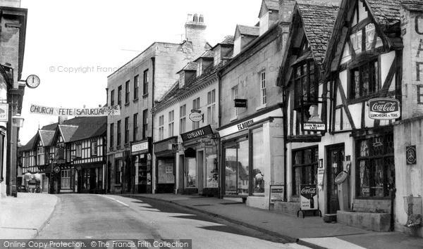 Photo of Winchcombe, High Street, John Wesley Cafe c.1955
