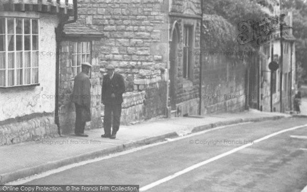 Photo of Winchcombe, Two Men, Hailes Street c.1955