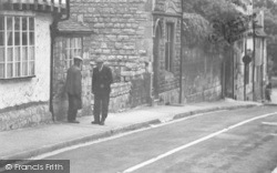 Winchcombe, Two Men, Hailes Street c.1955