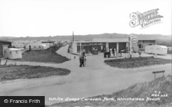 Winchelsea, Beach, White Lodge Caravan Park c.1960