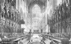 Winchester, Cathedral Choir East 1899