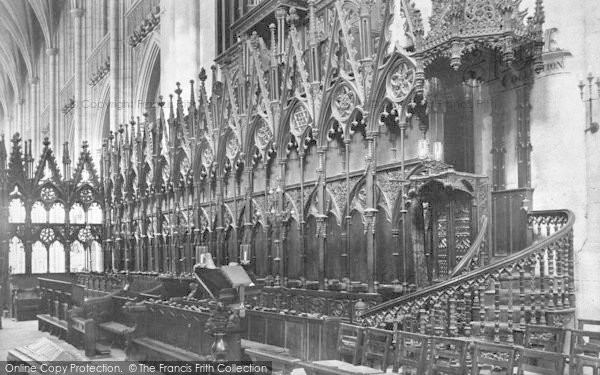 Photo of Winchester, Cathedral Choir Stalls 1911