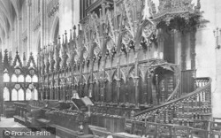 Winchester, Cathedral Choir Stalls 1911