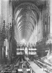 Winchester, Cathedral Choir West 1886