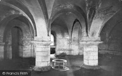 Winchester, Cathedral Crypt, Holy Well 1912
