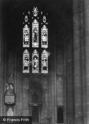 Winchester, Cathedral, Jane Austins Window 1911