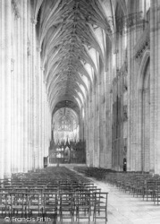 Winchester, Cathedral, Nave East 1890