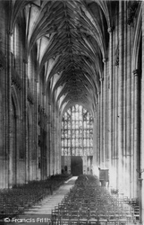 Winchester, Cathedral, Nave West 1886