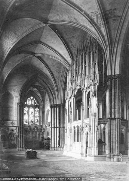 Photo of Winchester, Cathedral, North Aisle, Waynfleet's Chantry 1886