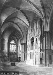Winchester, Cathedral, North Aisle, Waynfleet's Chantry 1886