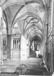 Winchester, Cathedral, North Choir Aisle c.1862