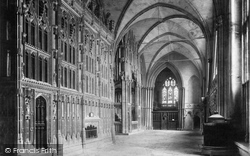 Winchester, Cathedral, South Choir Aisle 1909