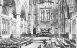 Winchester, Cathedral, The Choir East 1899